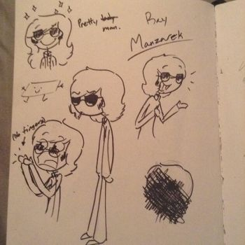 Pen doodles of Ray by psychedelic-weirdo