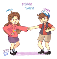 Mystery Twins by ArtsyAica