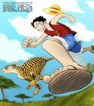 Luffy VS Cheetah by Lunnika-Horo
