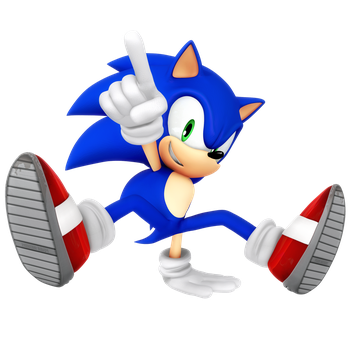 Sonic Breakdance Render by Nibroc-Rock