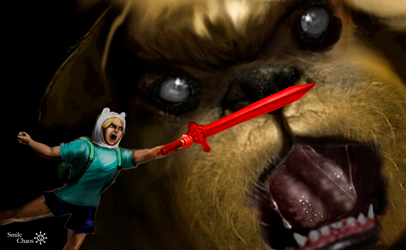 Jake the dog and Finn the human by Smilechaos