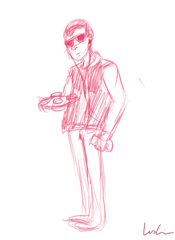 Baby Driver Sketch by GuitarRockAngel398