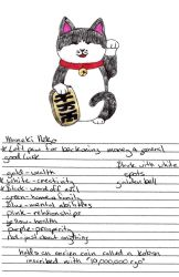 Lucky Cat Drawing by Haymurus