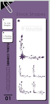 Shape Pack - Flower Corners by MouritsaDA-Stock