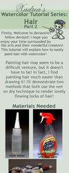 Watercolor Tutorial: Hair part 2 by Xadrea