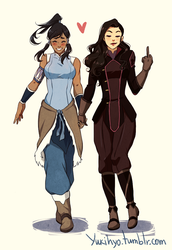 Korrasami Don't Give A Shit by YukiHyo