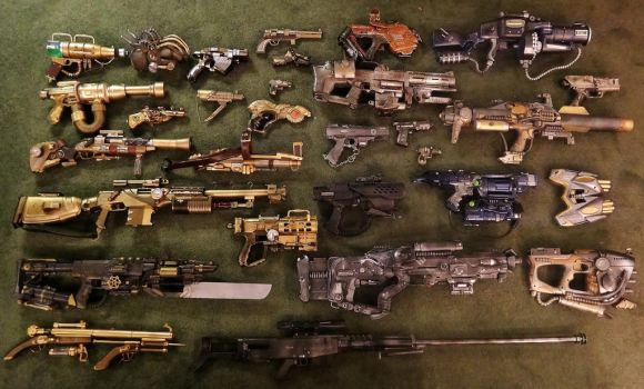Arsenal of the Warlord of the Nerds by KingMakerCustoms