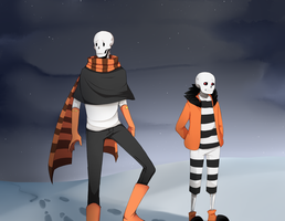 PrisonTale - Sans and Papyrus by Abalimm