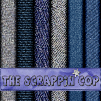 SCRAPPINCOP DENIM LAYER STYLES by debh945