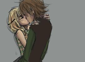 HTTYD: Astrid x Hiccup colored by roolph