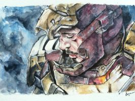Iron Man - Watercolor by aohnna