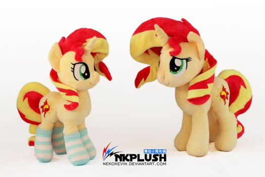 Double Sunset Shimmer plush by nekokevin