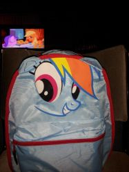 rainbow dash back pack (part 1) by Blazefire21