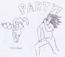 PinkiePie:Party with Andrew WK by Closer-To-The-Sun