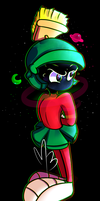 In the black void of 'Single character art piece' by Phoum-ew