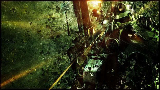 Fallout HD wallpaper - Power armor by umi-no-mizu