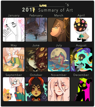 2017 art summary by Woestijn