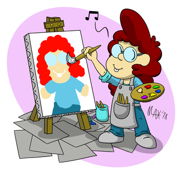 Young artist by megawackymax