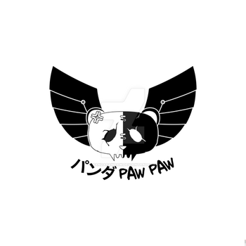 Panda Paw Paw Winged Bison Design (Black B) by PandaPawPaw