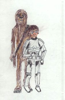 han and chewie by sfxdx