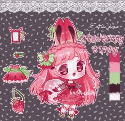 Strawberry Bunny Adopt #10 [closed] by Inntary