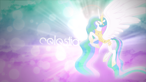 Princess Celestia Wallpaper by ImLaddi