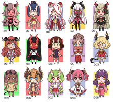 [CLOSED] Mini chibi ADOPTS #4 - 500 points OR 6$ by GazeRei