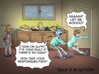 PA: Team D in action- by KrayComics