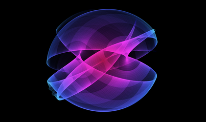 Gravitation surfaces - Orb and colors by Icosacid