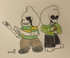 Hate!Asriel and Souless!Asriel by Anna-mator