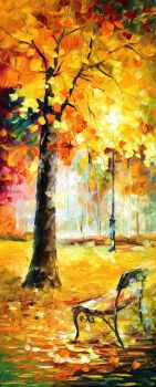 Park by Leonid Afremov by Leonidafremov