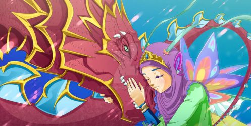 love dragon hijab by kolmanga
