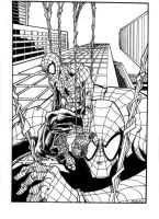SpiderMan inks by luisalonso