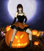 Pumpkin Pinup by RavenMoonDesigns