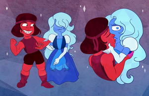 Steven Universe - Ruby and Sapphire by Tabascofanatikerin