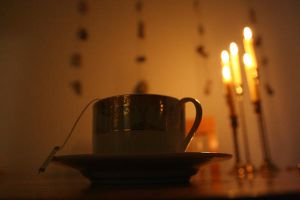 Candles and Tea by ElysiumFields