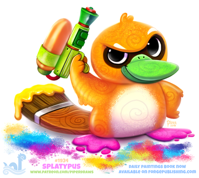 Daily Paint 1934# Splatypus by Cryptid-Creations