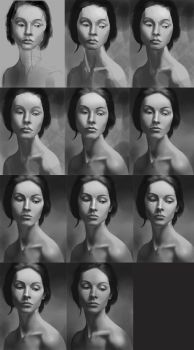 Girl Portrait Process - Keep pushing by MgcUsr