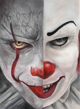 Pennywise 2017 vs 1990 by tobiasmia