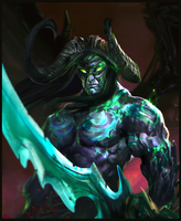 Illidan (Warcraft) (included processing video) by bloodyman88
