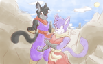 Ninja Warrior Grape and Max by CHAOKOCartoons