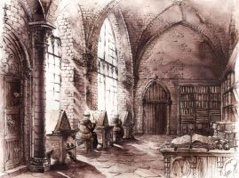 Medieval Cloister by GrimDreamArt