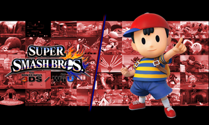 SSB for Wii U/3DS Ness Background by shrooby