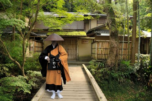 Begging Monk in Nikko by AndySerrano
