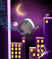 Chibi Spider Gwen by kuroandtheganks