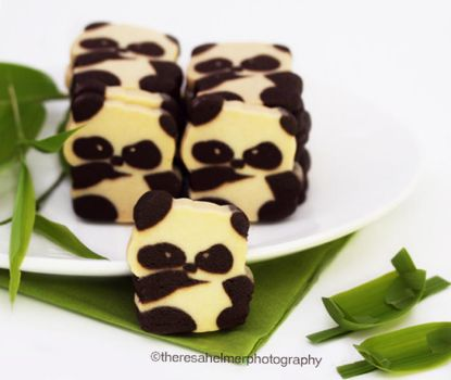 Panda Bear Cookies by theresahelmer
