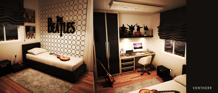 The Beatles Room by vonthorr