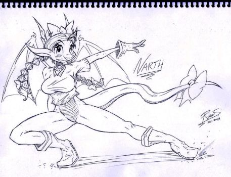 Commission: Narth - Sketch (MY FIRST COMmISSION) by RyouSakai