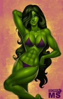 She-Hulk by SoniaMatas