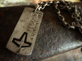 Steel American Heathen Dog tag by Vikingjack